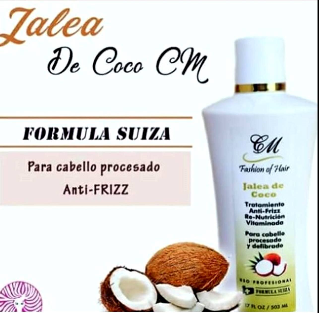 Amazon.com: Jalea de Coco Anti Frizz Para El Pelo Tratamiento Formula Suiza CM: Beauty