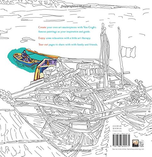 Amazon Vincent Van Gogh Art Colouring Book Make Your Own Masterpiece Books 9781786640475 Daisy Seal Flame Tree Studio