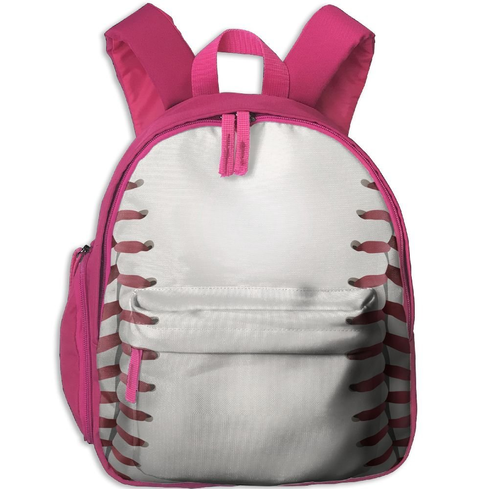 Baseball Print Double Zipper Waterproof Children Schoolbag With Front Pockets For Kids Boy Girl