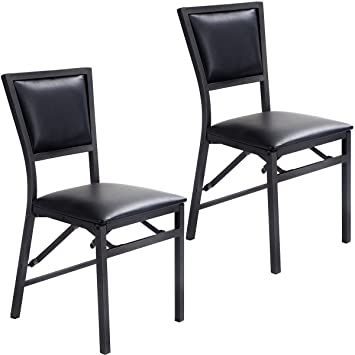 Giantex Set Of 2 Metal Folding Chair Dining Chairs Home Restaurant Furniture  Portable (18u0026quot;