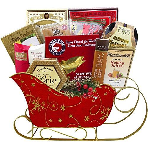 Dashingly Delicious Christmas Holiday Gift Box with Smoked Salmon