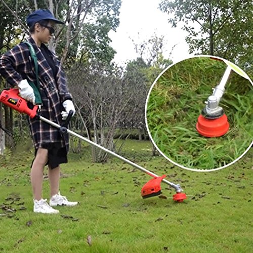 Strimmer Head, Petrol Trimmer Head Replacement Strimmer Bump Feed Line Spool Brush Cutter Grass (Red)
