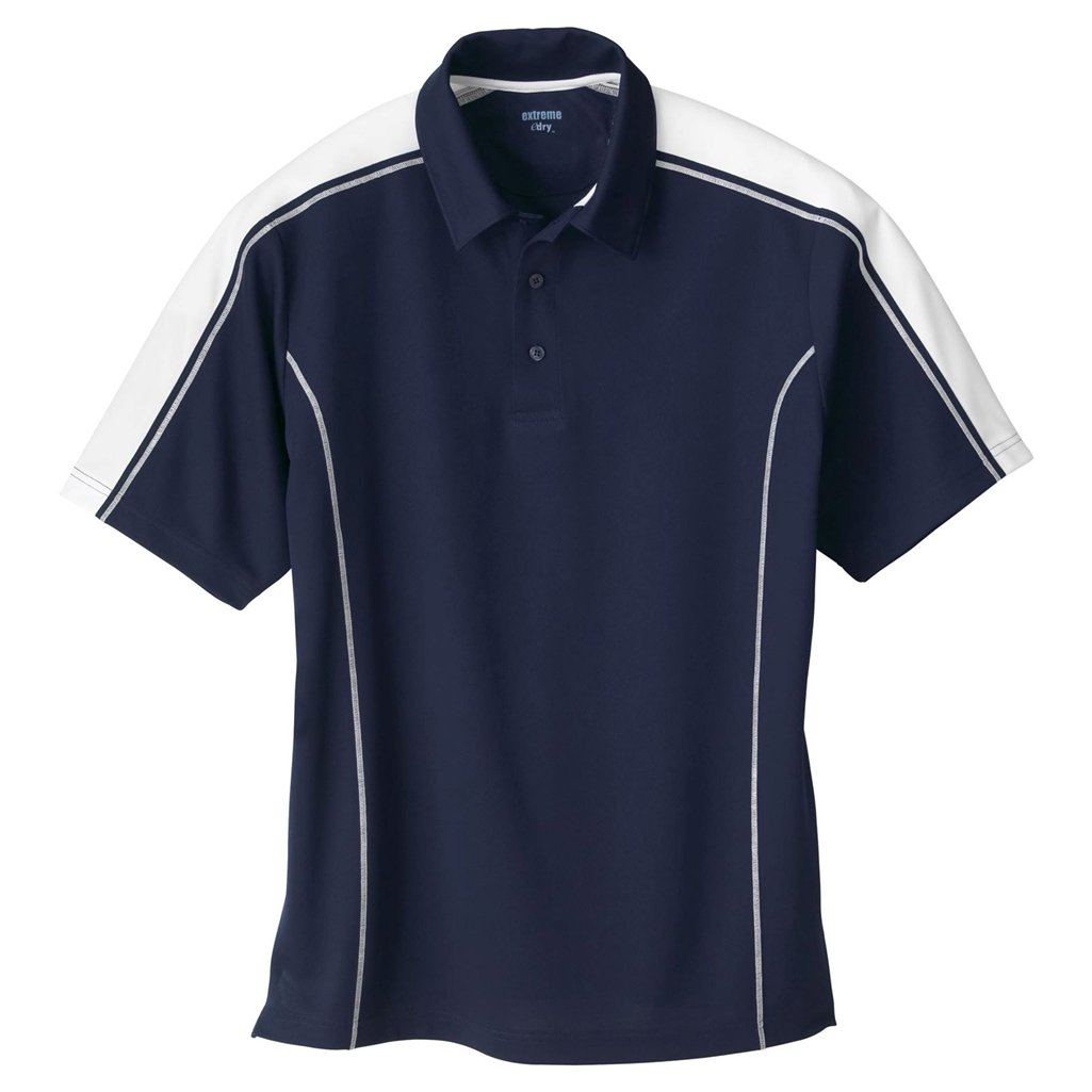 Ash City Mens Eperformance Extreme Pique Color Block Polo Shirt (XXXXX-Large, Classic Navy/White) by Ash City Apparel