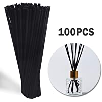 SBANHEAF Reed Diffuser 100PCS, 7 Inch Natural Rattan Reed Diffuser Sticks- Black Reed Diffuser Sticks for Home Office Spa and Bed Room