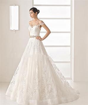 LUCKY-U Vestido de novia de mujer Vestido de novia Playa Larga Vestidos de novia