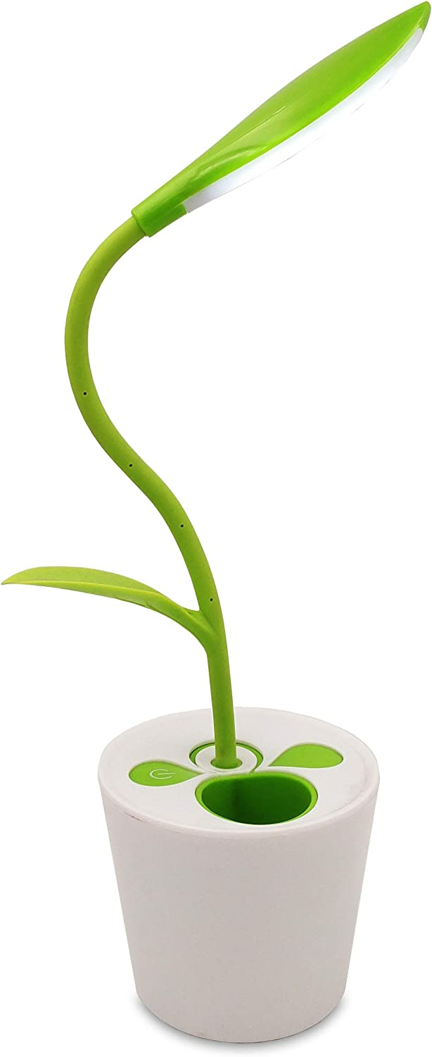 LED Desk Lamp With Plant Pencil Holder