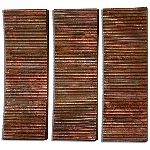Uttermost 07064 Adara Copper Wall Art (Set of 3)