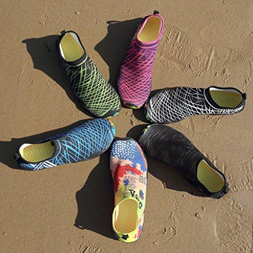 Aqua Diving Scarpe A Swim fili Laiwodun Calzature piedi 6 nudi Uomo Acqua Subacquee Color 14 drenaggio con Quick Donna Scarpe Dry di 8X86qBE