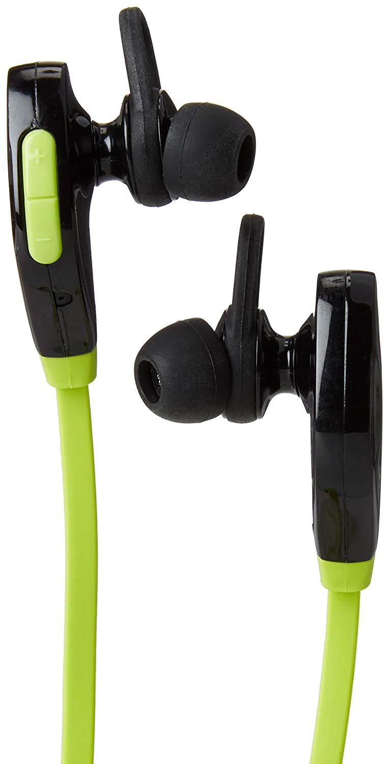 AudioTastic Bluetooth 4.2 Ear Bud Headphones, 6 Hours Play Time, Water Resistant, Rich Stereo Sound, w/mic (Lime Green)