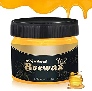 CHARMINER Wood Seasoning Beewax, Traditional Beeswax Polish, Multipurpose Natural Unscented Beeswax Wood Polish, for Home Cleaning, Furniture Care, Wood Protection (1PC)