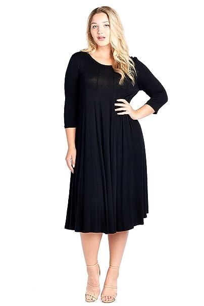 Modern Kiwi Women\'s Plus Size Long Sleeve Flowy Maxi Dress (1X-4X)