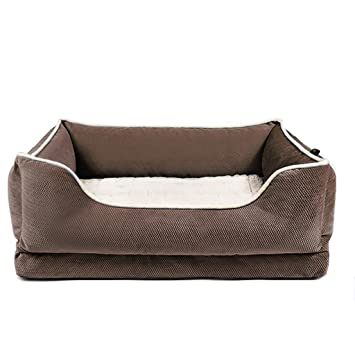 Casas para Perros Interiores Cama Oval para Perro - Nido de Perro - Camas para Mascotas (Mediano) perreras (Color : Brown): Amazon.es: Productos para ...