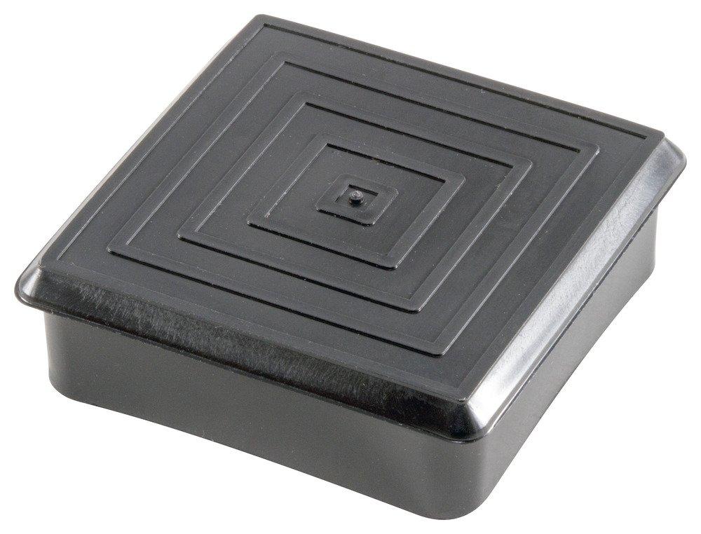Caplugs 99191578 Plastic Finishing Plug for Square Tubing. FP-125, PE-LD, To plug square tube size 0.75 To fit .065 (16 Ga.)'', Black (Pack of 1000)