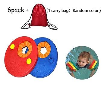 Haolong Juego de 6 discos flotadores, coloridos, escuela de natación, para que los niños aprendan a nadar, cinta para brazo: Amazon.es: Deportes y aire ...