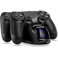 Cargador PS4 ECHTPower DualShock 4 Estación de Carga Soporte de Energía para Sony Playstation PS4 / Slim/Pro Controlador…