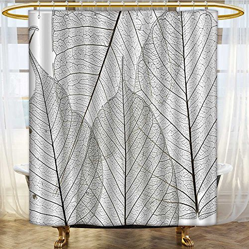AmaPark Fabric Shower Curtain Liner Macro Leaf Veins Tissue Cells Foliage Plant Artsy Olive Green Machine Washable 72 x 72 inches