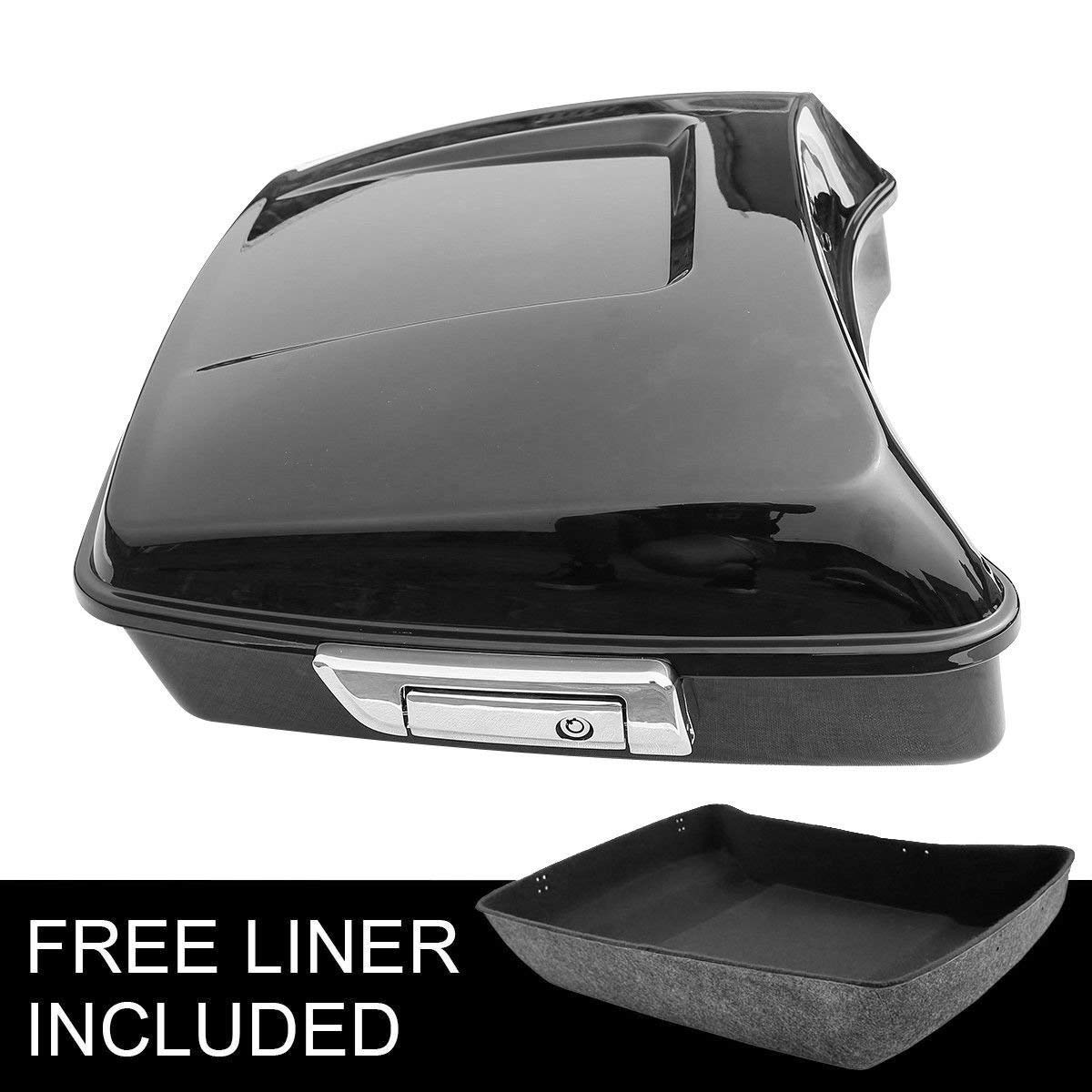 XFMT 10.7'' Chopped Tour Pak Pack Trunk W/Latch Compatible with Harley Street Road Glide 2014-19