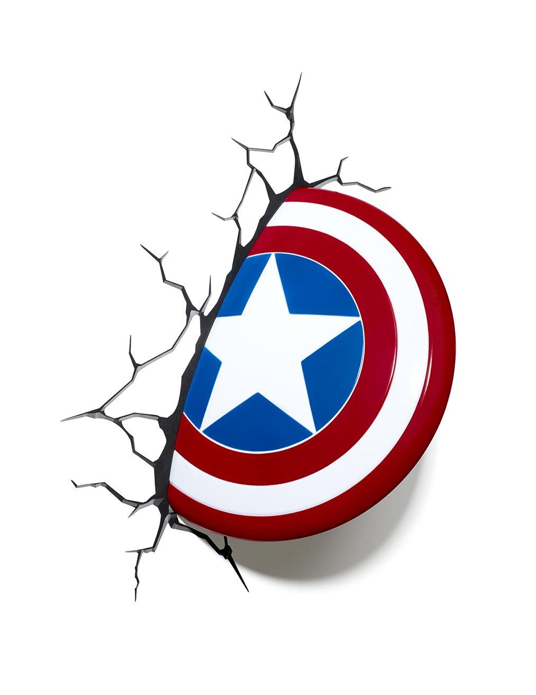 Amazon 3dlightfx Marvel Avengers Captain America 3d Deco Light