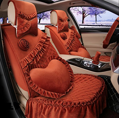 romantic-ruffles-velvet-vehicle-car-seat-covers-and-accessories-set-17pcs-coffee