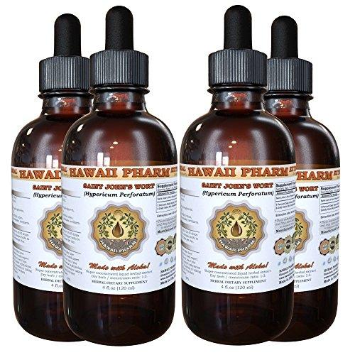 Saint John's Wort (Hypericum Perforatum) Liquid Extract 4x4 oz by HawaiiPharm