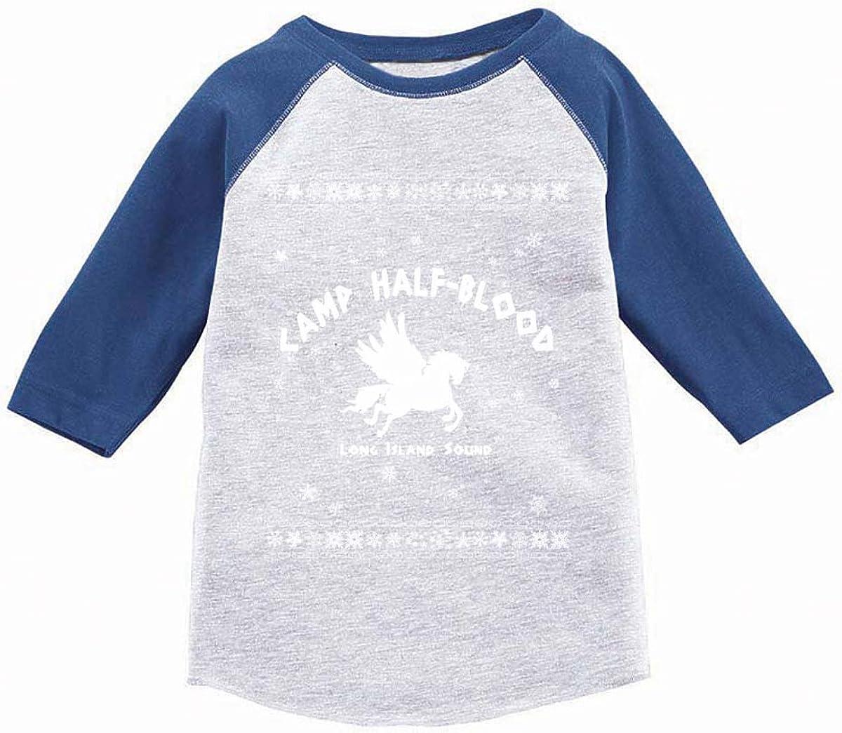 Awkward Styles Boys Girls Ugly Xmas T-Shirt Christmas Camp Half-Blood Toddler Raglan Shirt