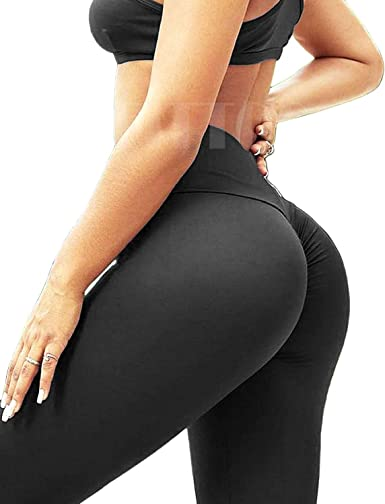 Women Ruched Yoga Pants High Waist Compression Leggings Fitness Scrunch Trousers