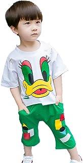 ZZ T-Shirt da Bambino Estiva Tendenza Due Pezzi