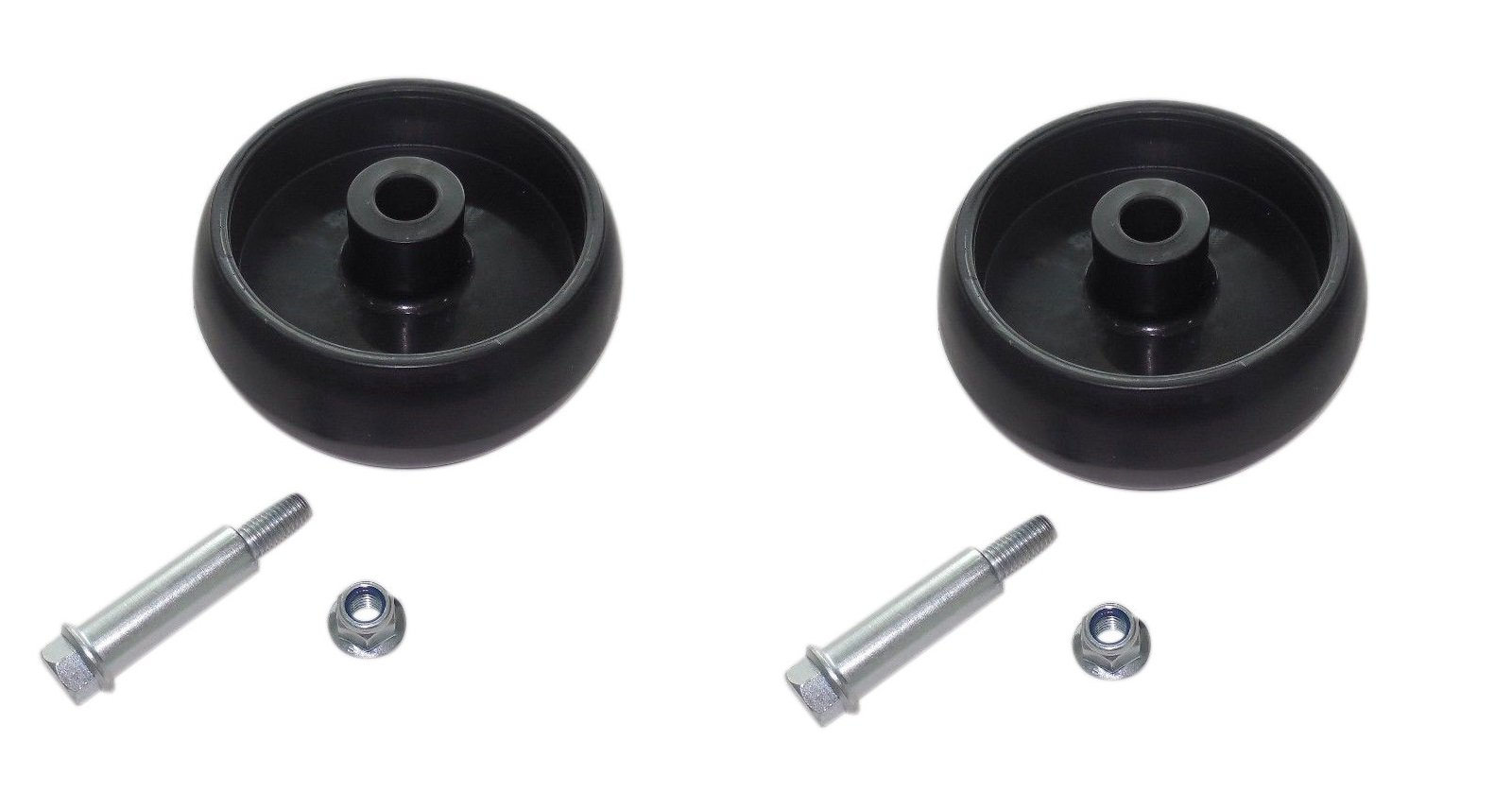 New TWO (2) John Deere Deck Wheels L100 L110 L120 L130 L105 L107 W/ Bolt & Nut