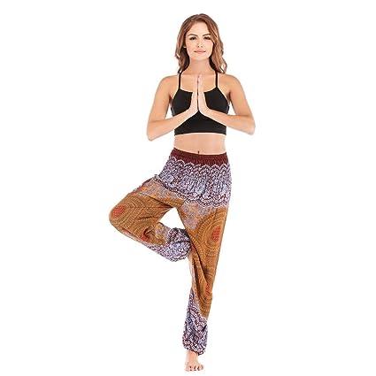 KKIMISPORT Ladies Yoga Pants Bohemian Printed Holiday Beach ...