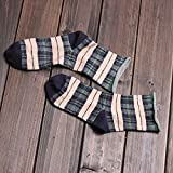 Y@H.Solid color wool autumn and winter thickening retro fashion keep warm cotton socks