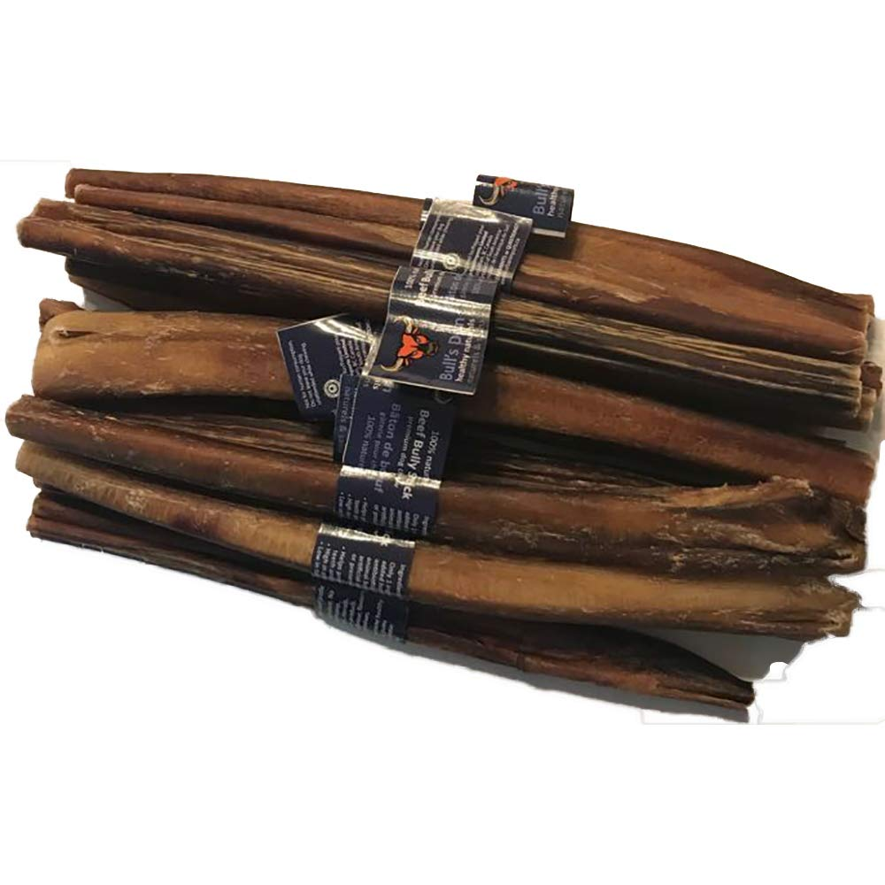 Organic & Natural Bully Sticks10-11 (10 Pack) 480g Free Range, Grass-fed Beef, Free of Any Hormones, antibiotics or additives