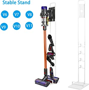 Buwico Stable Metal Storage Stand Docking Station Organizer Holder for Dyson Handheld V11 V10 V8 V7 V6 DC30 DC31 DC34 DC35 DC58 DC59 DC62 DC74 Cordless Vacuum Cleaners,White