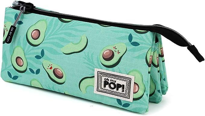Oh My Pop! Awacate - Estuche Portatodo Triple HS, Multicolor: Amazon.es: Equipaje