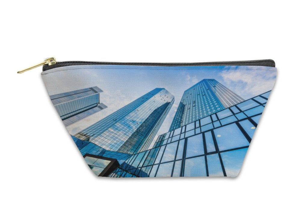 Gear New Accessory Zipper Pouch, Modern Skyscrapers In Business District With Blue Sky, Large, 5982148GN