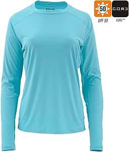 Simms SolarFlex - Camisa de Cuello Redondo para Mujer (Talla M), Color Turquesa: Amazon.es: Deportes y aire libre