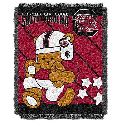 The Northwest Company Officially Licensed NCAA South Carolina Gamecocks Fullback Woven Jacquard Baby Throw Blanket, 36