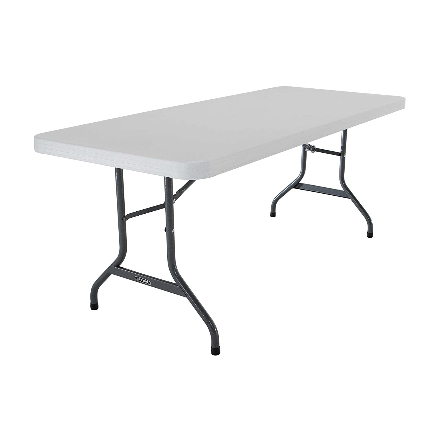 Six Foot Folding Table.Lifetime 22901 Folding Utility Table 6 Feet White Granite
