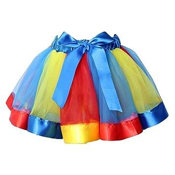 Hihamer Falda Tul para Niñas Falda de Fiesta de Baile de Ballet de ...