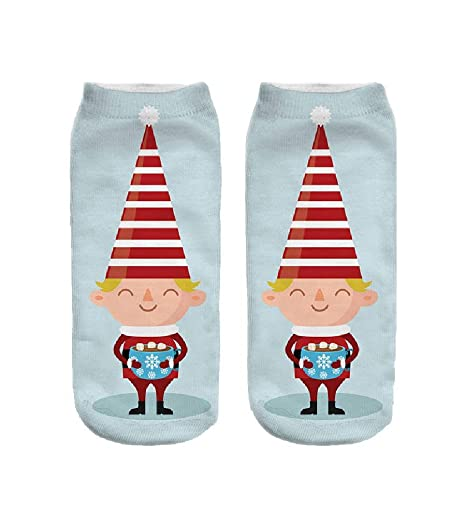 Doxi Girl New 3D Christmas Cartoon Snowman Santa Low Cut Calcetines Mujer Ankle Women Socks