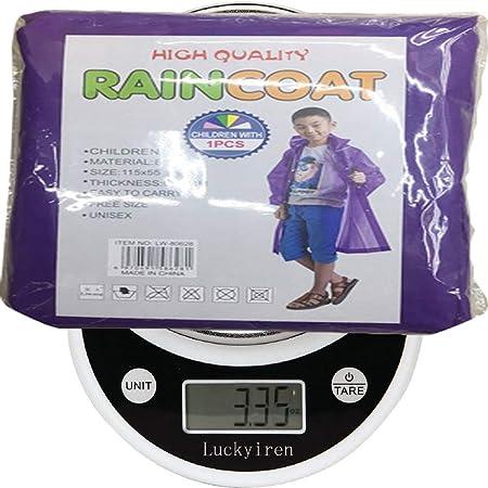 Amazon.com: Unisex Raincoat Rain Poncho Jacket Slicker Outwear for Kids Children[Reusable & Lightweight]Rain&Wind Coat Cloak Wear for 6-12 Y/O. Boys&Girls ...
