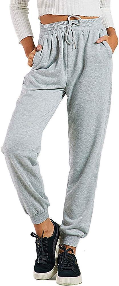 Ecupper Pantalones de chándal Holgados Casuales para Mujer ...