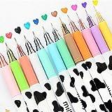 Allife® 12pcs/pack Multi Colors Colorful Gel Pen Sweet-style Design Pin Type Ink Pen (Milky)