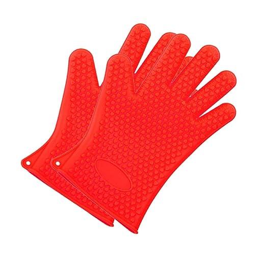 ANPI Guantes de silicona, guantes de cocción para horno de ...