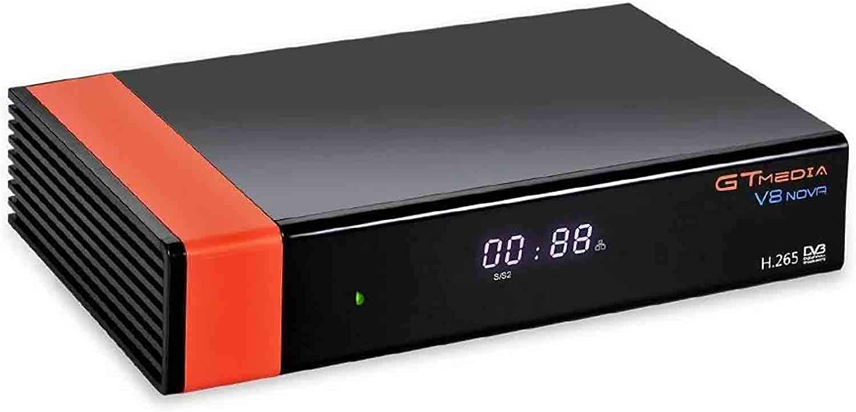 GT Media V8 Nova DVB-S2 Decodificador Receptor de TV Satélite Digital , Wi-Fi / SCART / 1080P Full HD / FTA Integrado, Compatible con Youtube, CC CAM, Newcam, PVR ,Power VU Dre Biss Key (V8)