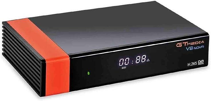 GT Media V8 Nova DVB-S2 Satélite Receptor de TV Digital Decodificador con Wi-Fi Incorporado / SCART / 1080P Full HD / FTA Soporte Youtube,CC CAM, Newcam, PVR Ready, PowerVu Dre Biss Clave:
