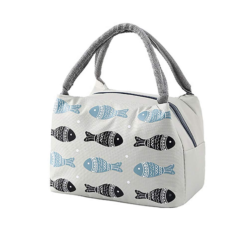 OrchidAmor Thermal Insulated Lunch Box Tote Cooler Bag Bento Pouch Lunch Container