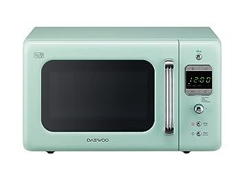 Daewoo KOR7LBKM Retro Style Microwave Oven, 20 L, 800 W - Mint ...
