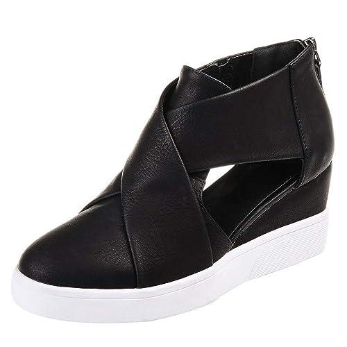 Zapatillas Mocasines de Respirable Plataforma para Mujer QinMM Zapatos otoño Verano Casual Merceditas: Amazon.es: Zapatos y complementos