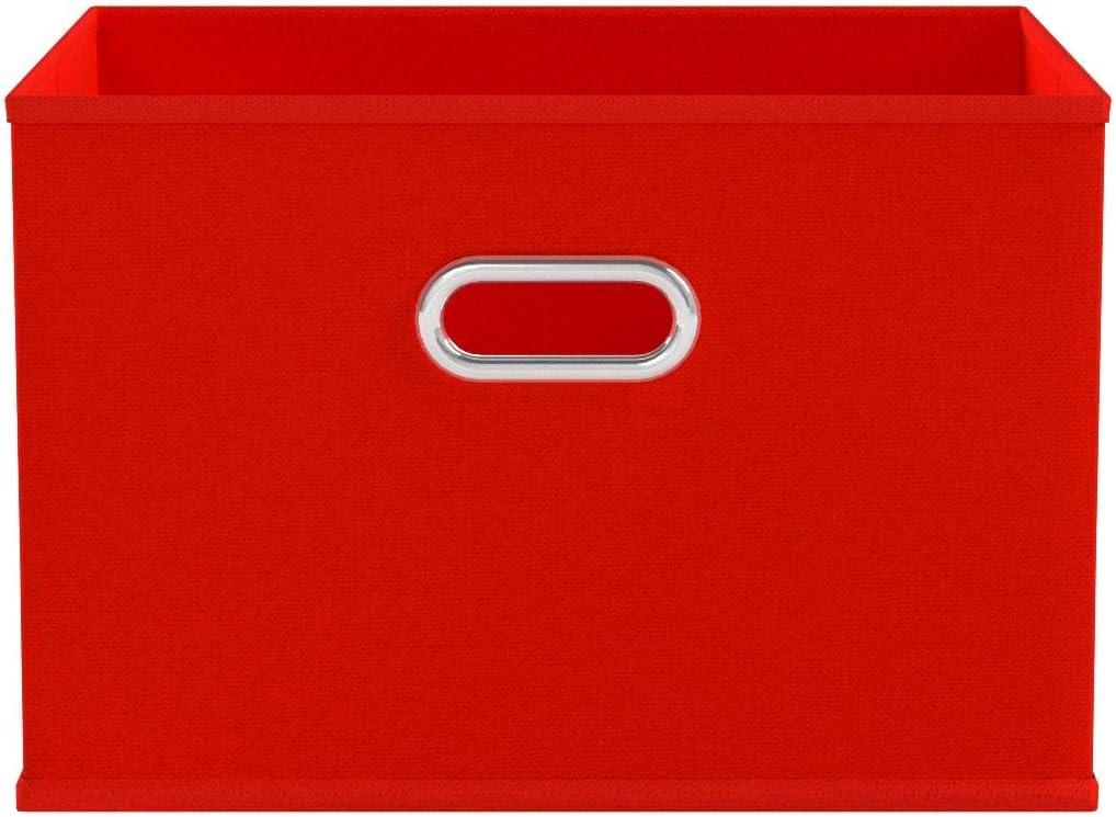 Zeller 14417 - Caja de almacenaje de tela, plegable, 33 x 26 x 22 cm, color rojo: Amazon.es: Hogar
