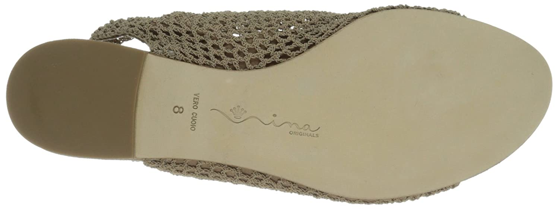 Nina Original Women's Smile Dress Sandal B00AY8WLSC 6.5 B(M) US Natural Stretch Elastic